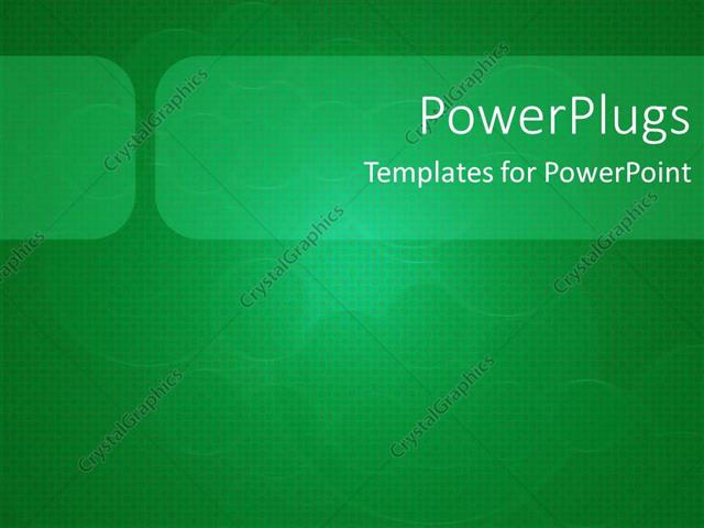 Powerpoint Template Depiction Of A Plain Green And White Background