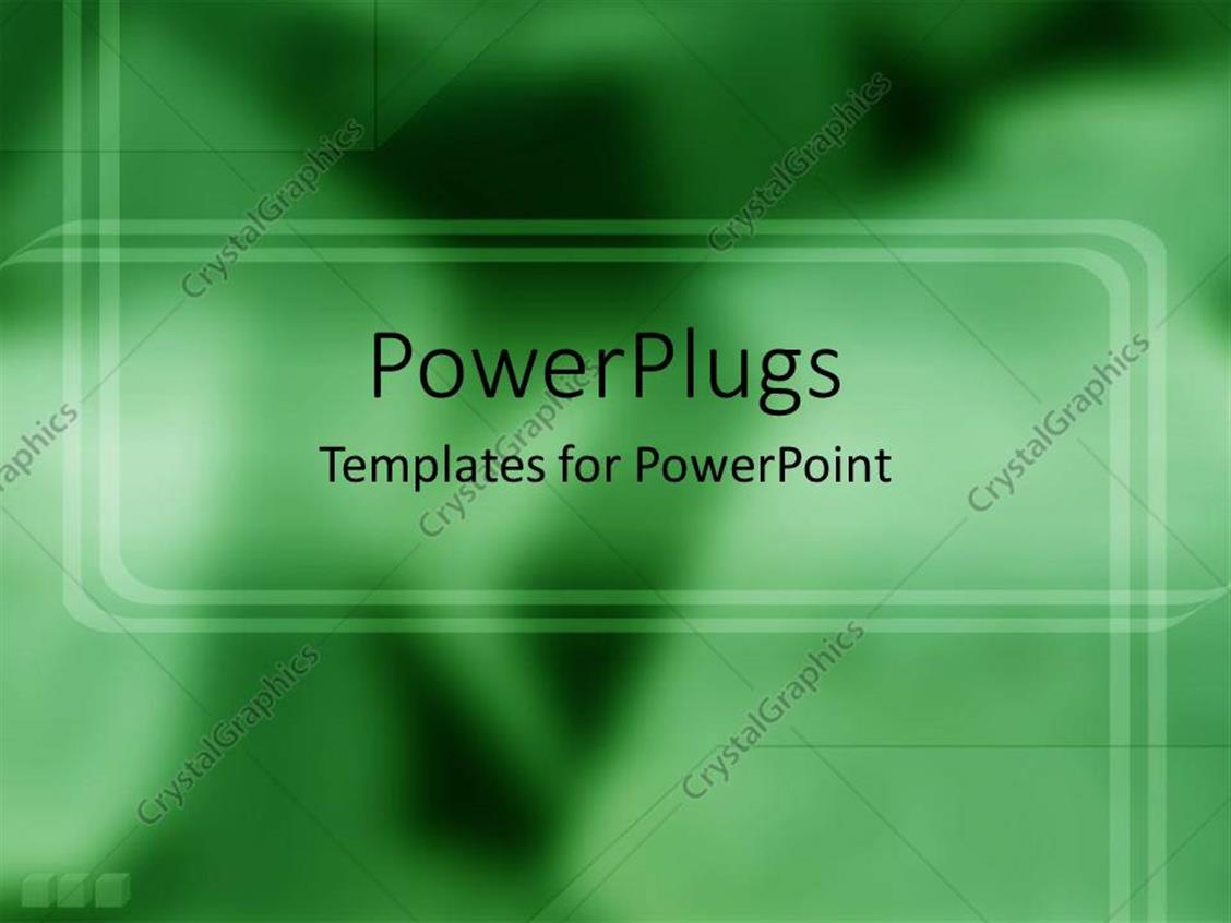 PowerPoint Template Displaying Depiction of a Plain Green and White Blurry  Background