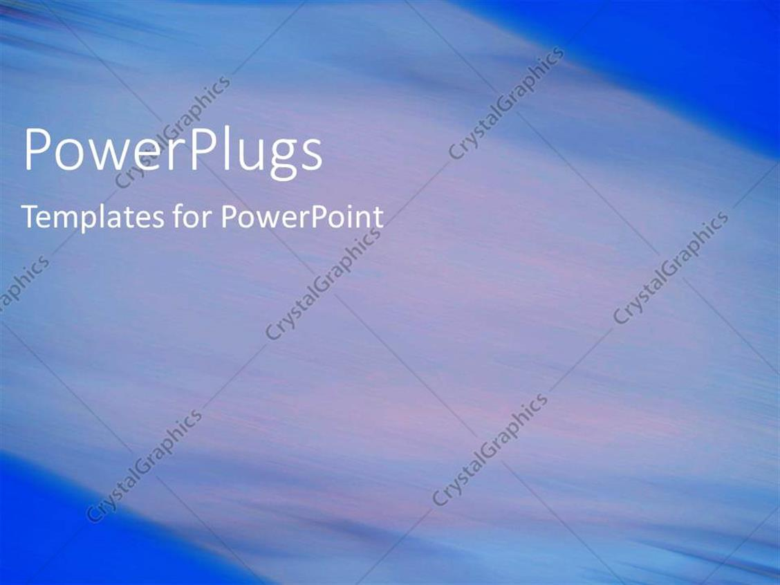 PowerPoint Template Displaying Depiction of  a Plain Multi Colored Blurry  Background Block