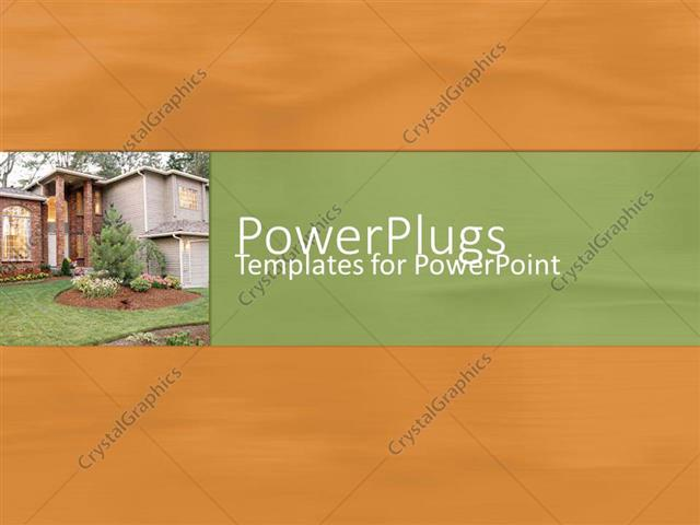 Powerpoint Template Depiction Of A Plain Sandy Background With A