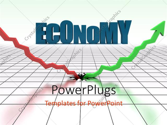 PowerPoint Template Displaying Depiction of Sudden Economic Rise after Terrible Economic Depression