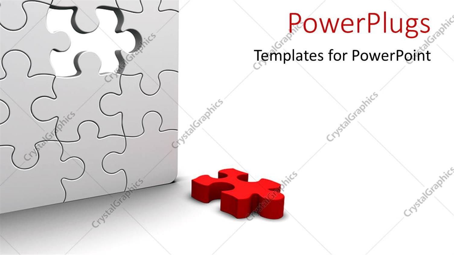 PowerPoint Template Displaying a Number of Puzzle Pieces Together