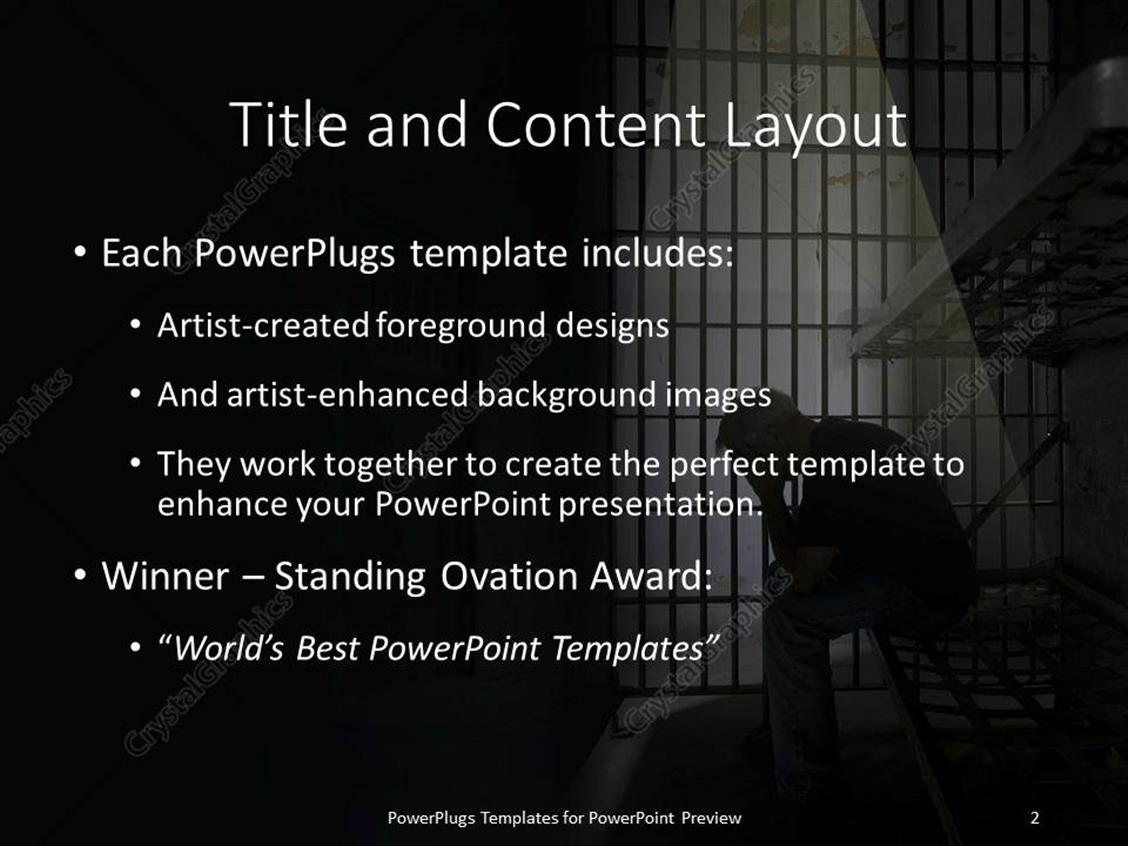 Powerpoint template depression in jail 17751 powerpoint products templates secure toneelgroepblik Choice Image
