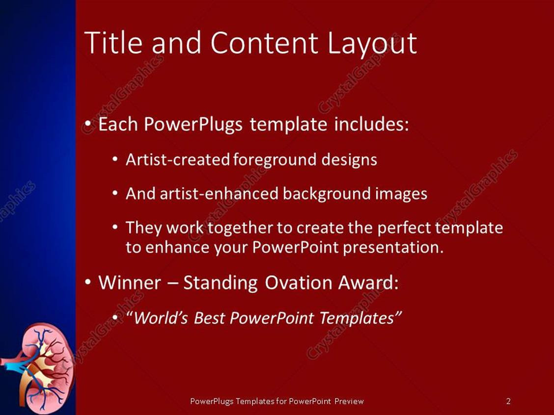 Powerpoint template design of sectioned kidney with veins on dark powerpoint products templates secure toneelgroepblik Image collections