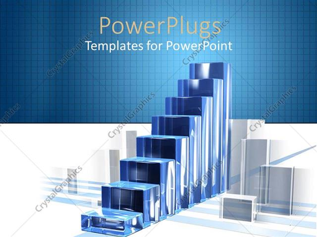 powerpoint template diagram of success built from blue. Black Bedroom Furniture Sets. Home Design Ideas