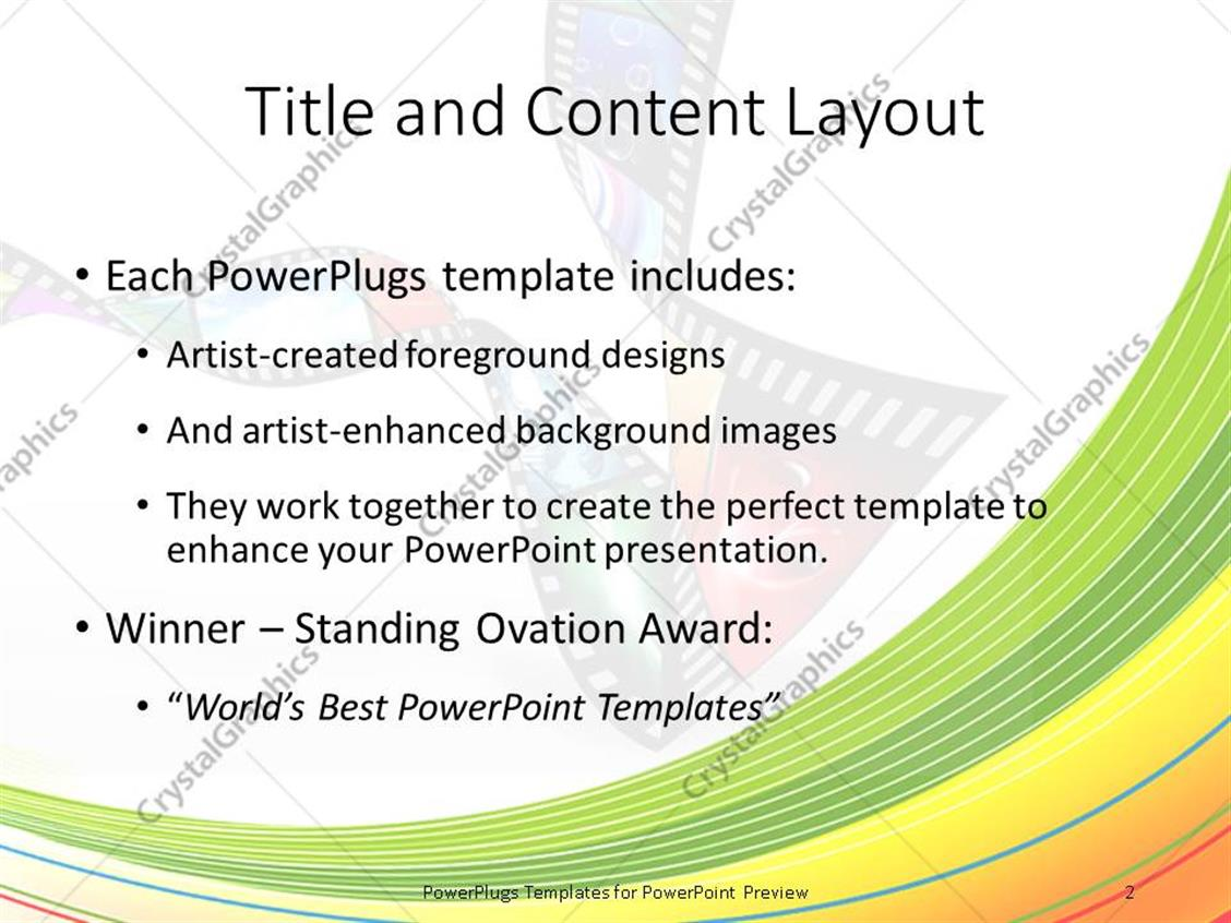 Powerpoint template different photographs in a film reel with powerpoint products templates secure alramifo Gallery