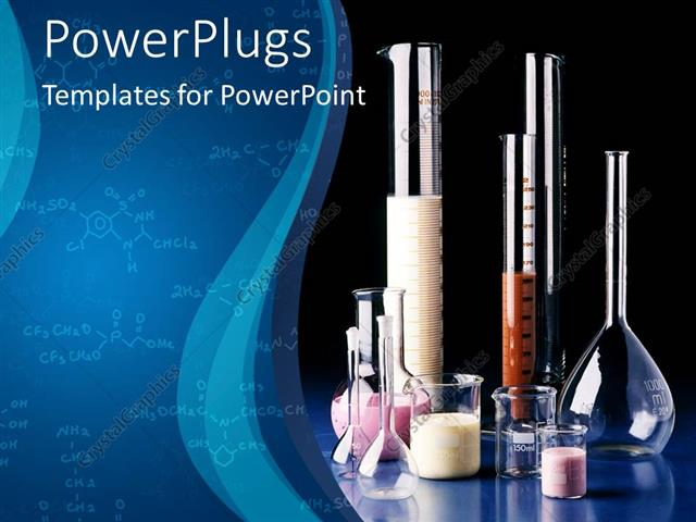 Powerpoint template different types of chemistry physics lab powerpoint template displaying different types of chemistry physics lab apparatus with dark blue background toneelgroepblik Choice Image