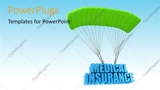 Powerpoint template a parachute with medical insurance and sky in powerpoint template displaying a parachute with medical insurance and sky in background toneelgroepblik Gallery
