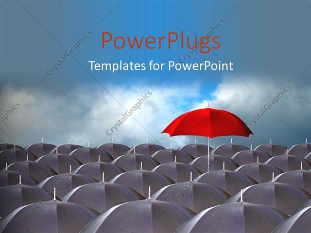 Powerpoint template distinct red umbrella above ash colored powerpoint template displaying distinct red umbrella above ash colored umbrella over cloudy sky toneelgroepblik Images