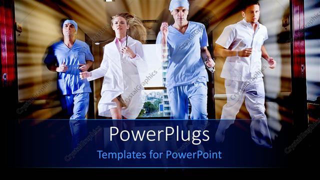 Powerpoint template doctor and nurse running in hallway of hospital powerpoint template displaying doctor and nurse running in hallway of hospital toneelgroepblik Gallery