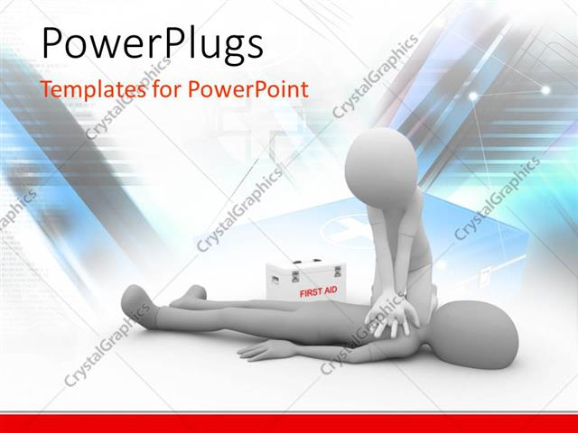 Powerpoint Template Doctor Performing Cpr First Aid On Human With