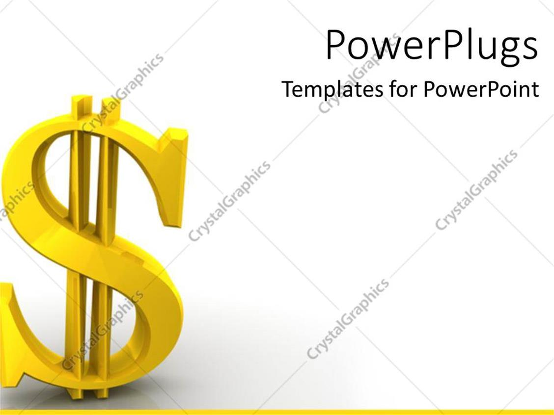PowerPoint Template: dollar sign bills finances economy global ...