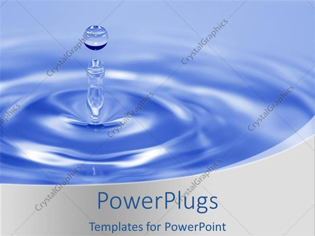 Powerpoint template a drop of water with bluish background 30818 powerpoint template displaying a drop of water with bluish background toneelgroepblik Images