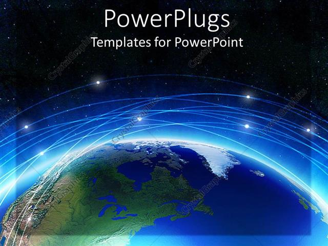 Powerpoint template earth with blue line and background of black powerpoint template displaying earth with blue line and background of black sky with shining stars toneelgroepblik Image collections