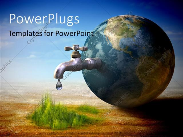 Powerpoint Template Earth Water Resources Generating New Life 30855