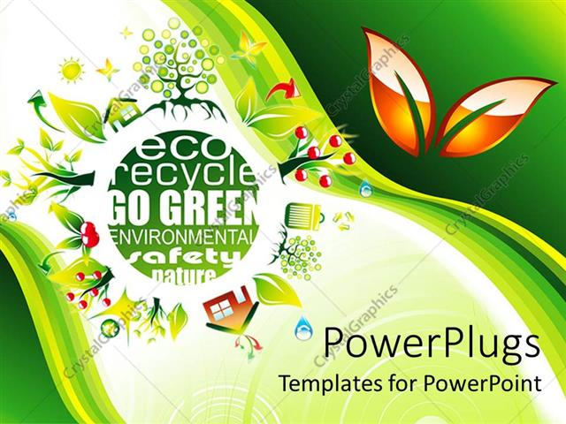 Powerpoint template eco friendly save the environment go green powerpoint template displaying eco friendly save the environment go green green background with nature toneelgroepblik Choice Image