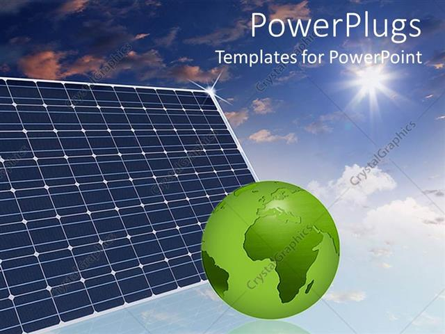 Powerpoint template eco friendly solar panels in the sky make the powerpoint template displaying eco friendly solar panels in the sky make the world a better place green toneelgroepblik Image collections