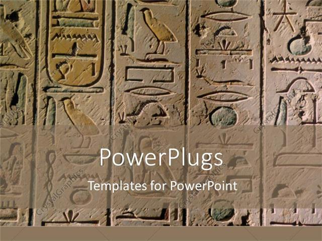 Powerpoint template egyptian hieroglyphics craved in stone for powerpoint template displaying egyptian hieroglyphics craved in stone for history toneelgroepblik Choice Image