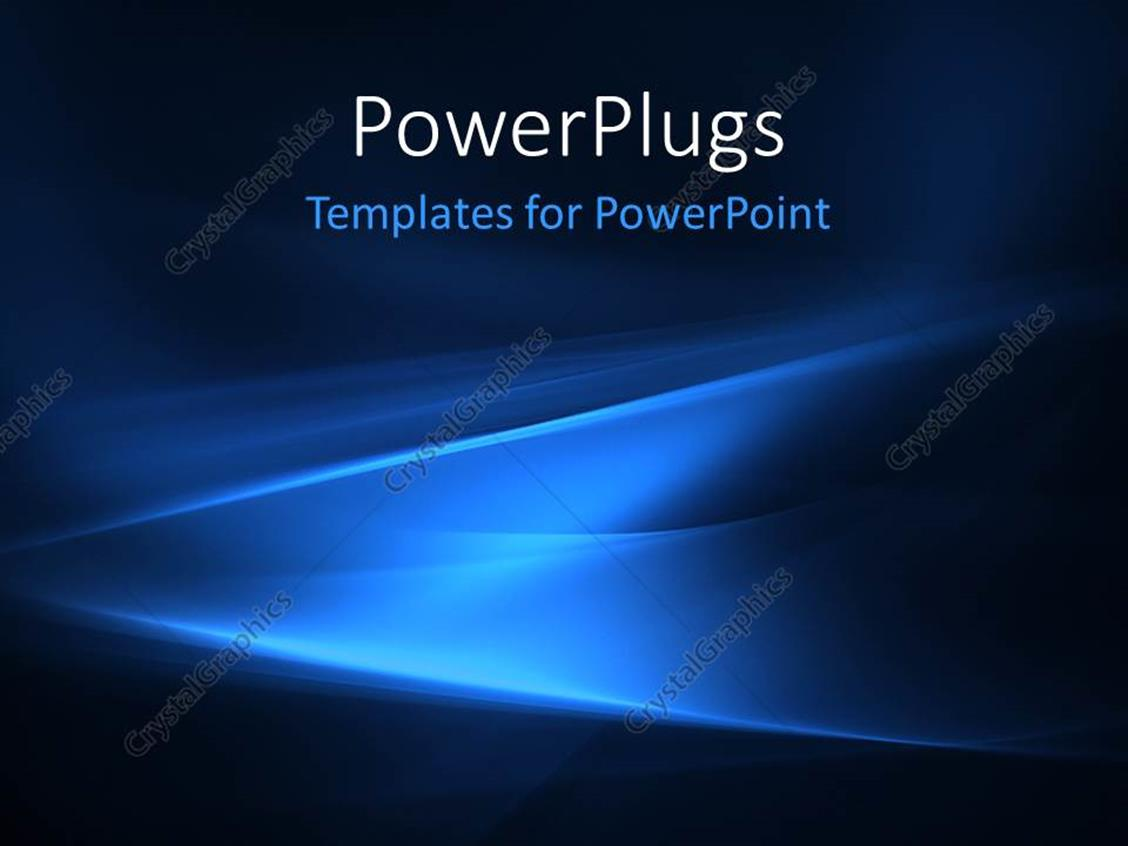 PowerPoint Template Displaying Electric Blue Patterns on Dark Background