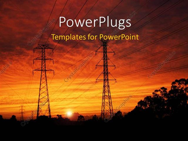 Powerpoint template electrical pylons at dawn 23717 powerpoint template displaying electrical pylons at dawn toneelgroepblik