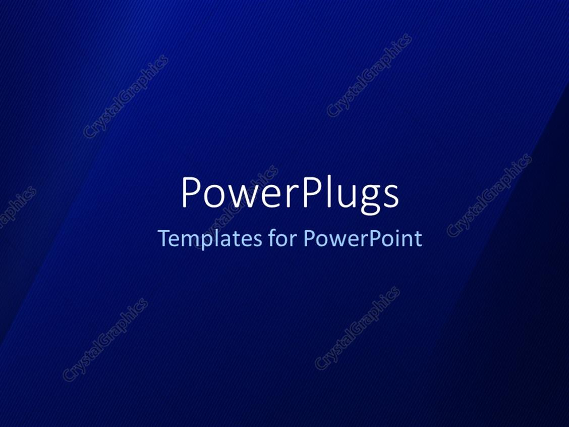 PowerPoint Template Displaying Elegant Abstract Blue Background with Angled Strokes