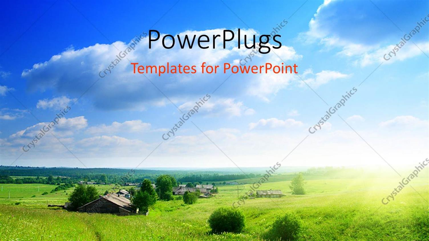 Powerpoint Template Environment And Nature With Greenery And Sky