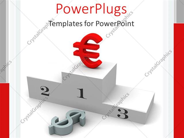 Powerpoint Template The Euro Symbol On Top Of A Podium 18725