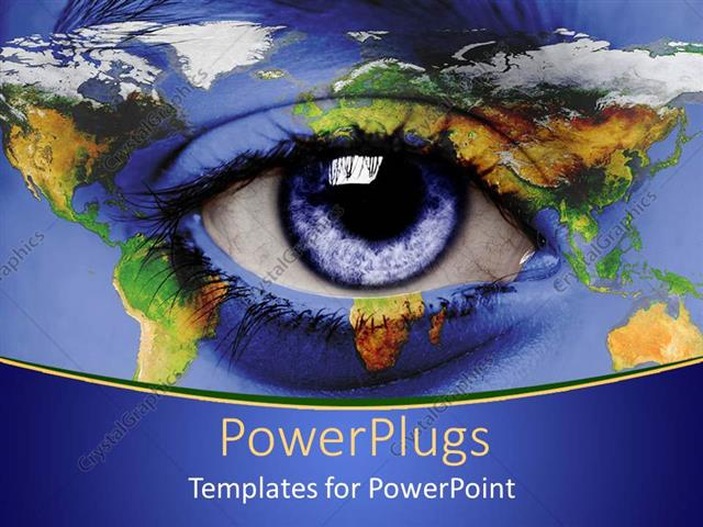 PowerPoint Template: eye on world map blue and green ... on eye earth, eye mind map, eye egypt, eye clock, home depot map, an old map,