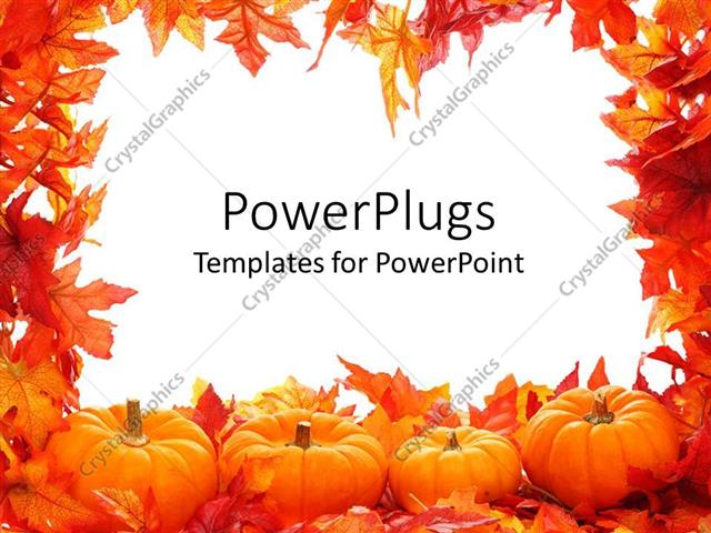 Powerpoint template fall autumn leaf border with white background powerpoint template displaying fall autumn leaf border with white background and pumpkins toneelgroepblik Images