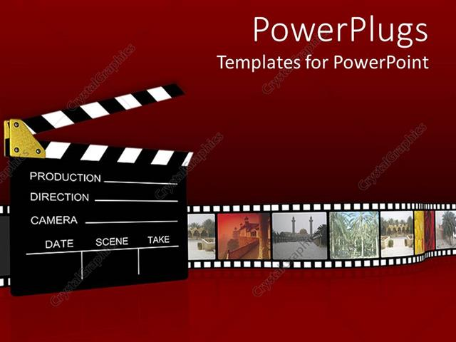 Powerpoint template film projector clapboard with vintage - Clipart cinema gratuit ...