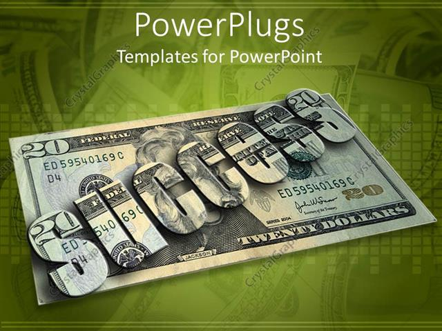 PowerPoint Template: Financial success depiction with twenty