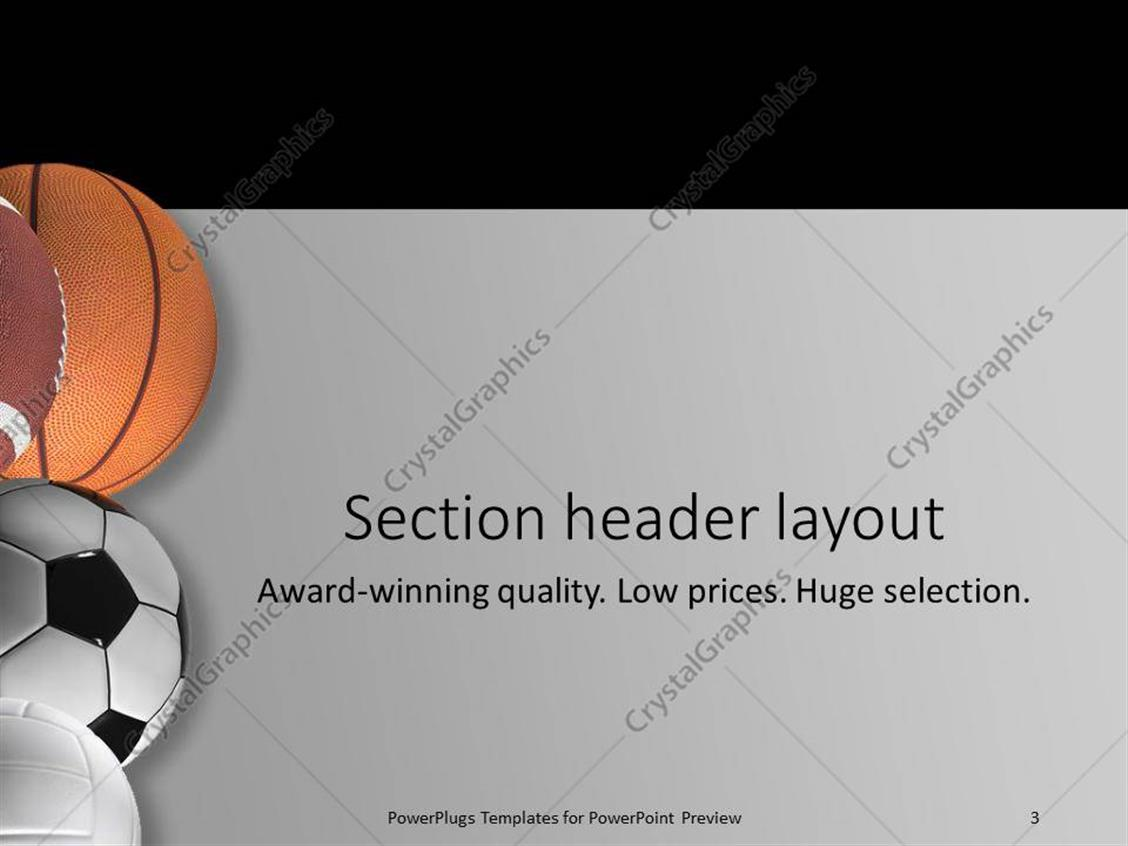 Fantastic baseball powerpoint templates ideas professional resume powerpoint template five different types of sport balls on a toneelgroepblik Image collections