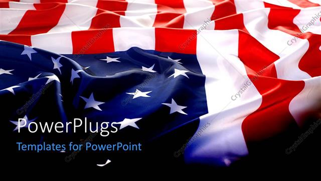 Powerpoint Template Flapping Usa Flag With Wave 12426