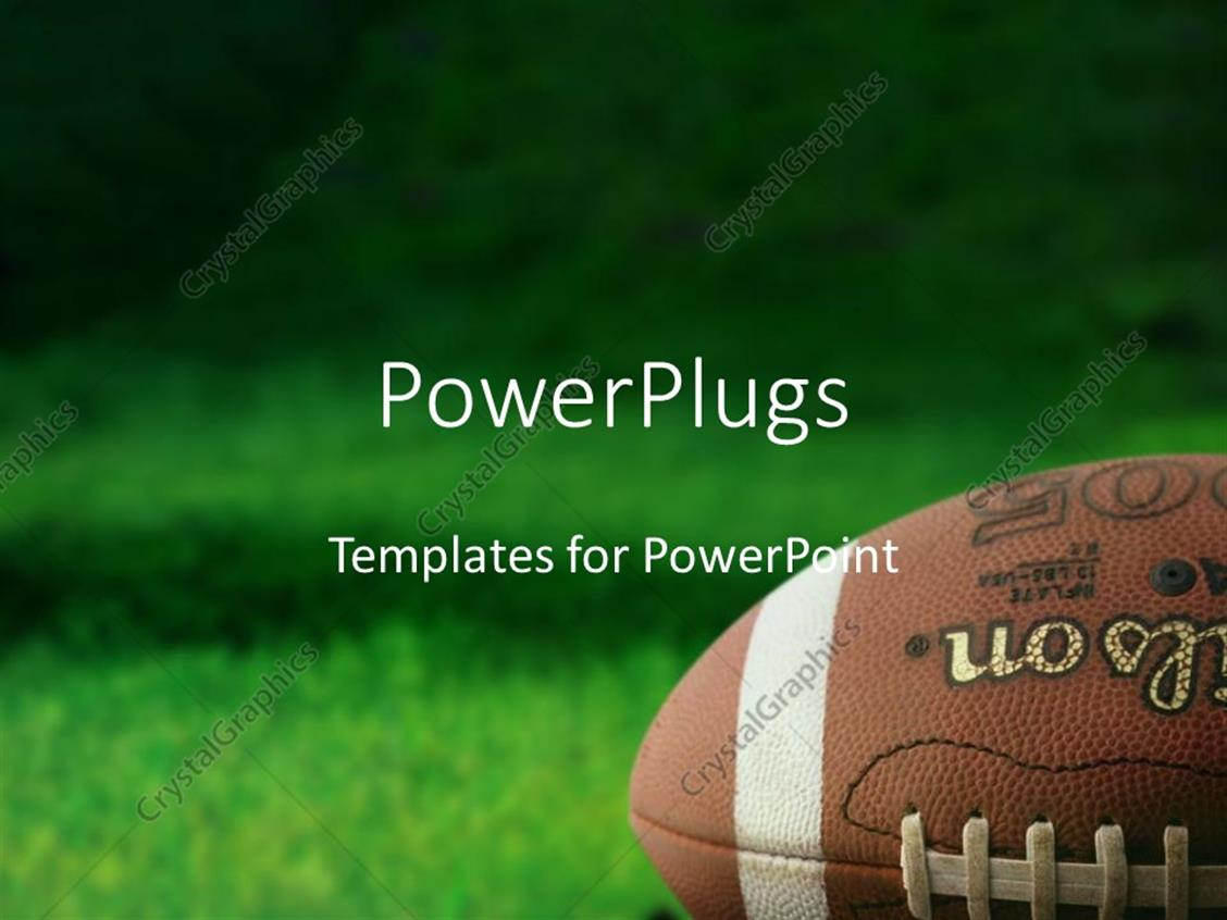 Powerpoint Template Football On Grass Athletes Playing Sports Team