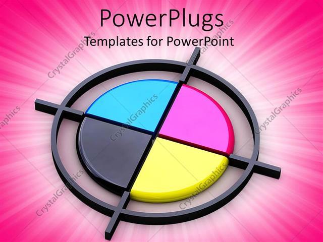 Powerpoint template four quadrants of three dimensional circle in powerpoint template displaying four quadrants of three dimensional circle in different colors over pink toneelgroepblik Images
