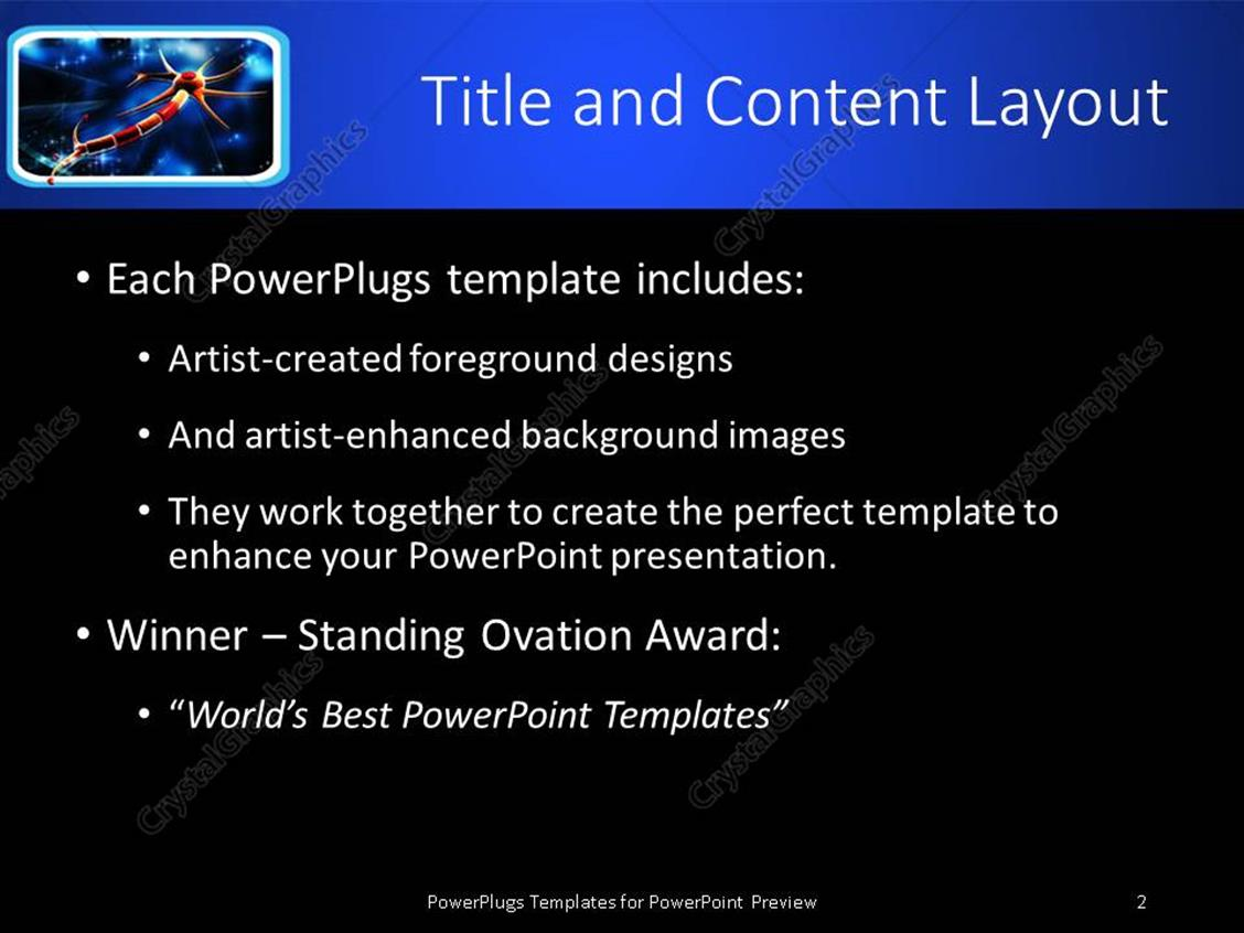 Powerpoint template framed orange and red neuron on glowing blue powerpoint products templates secure toneelgroepblik Gallery