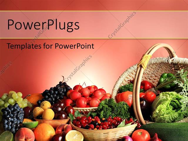 Powerpoint template fresh fruits and vegetables in basket depicting powerpoint template displaying fresh fruits and vegetables in basket depicting healthy lifestyle toneelgroepblik Choice Image