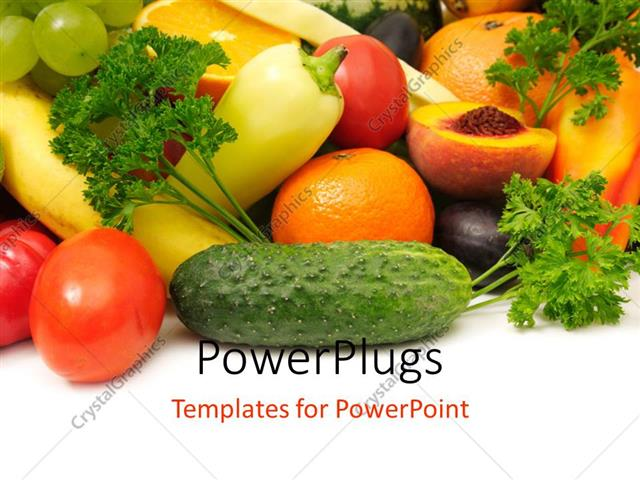 Powerpoint template fresh and healthy fruits and vegetables 13020 powerpoint template displaying fresh and healthy fruits and vegetables toneelgroepblik Choice Image