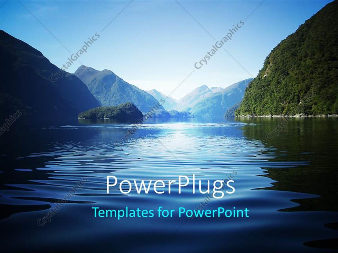 Powerpoint Template Fresh View Over Doubtful Sound A Fiord