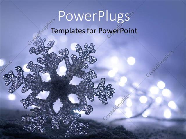 Powerpoint template frozen ice snowflake with soft christmas powerpoint template displaying frozen ice snowflake with soft christmas lights toneelgroepblik Gallery
