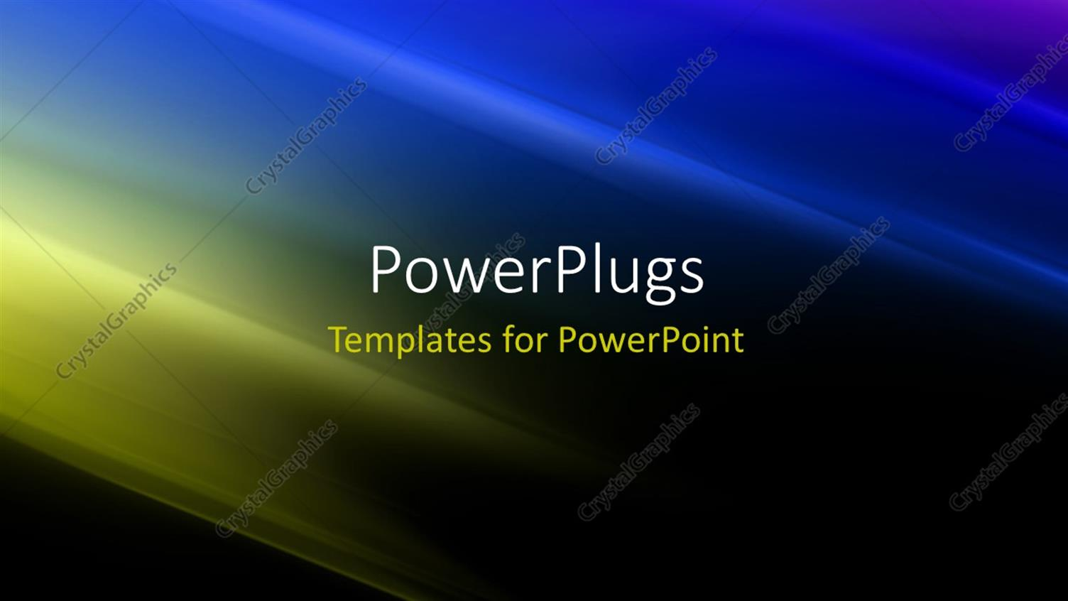 PowerPoint Template Displaying Futuristic Technology Abstract Stripe Background