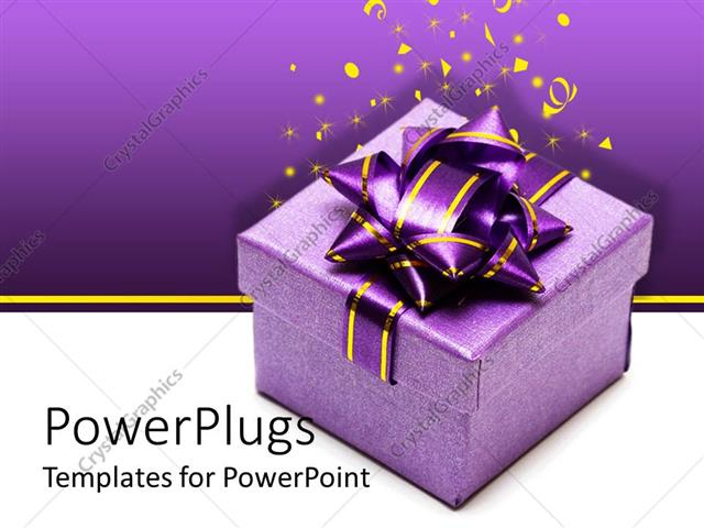 Powerpoint template a gift hamper with a purple background powerpoint template displaying a gift hamper with a purple background including celebration material negle Image collections
