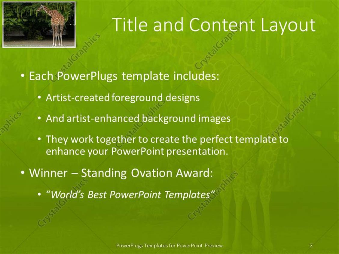 Powerpoint template giraffe eating leaves from a tree 13543 powerpoint products templates secure toneelgroepblik Image collections