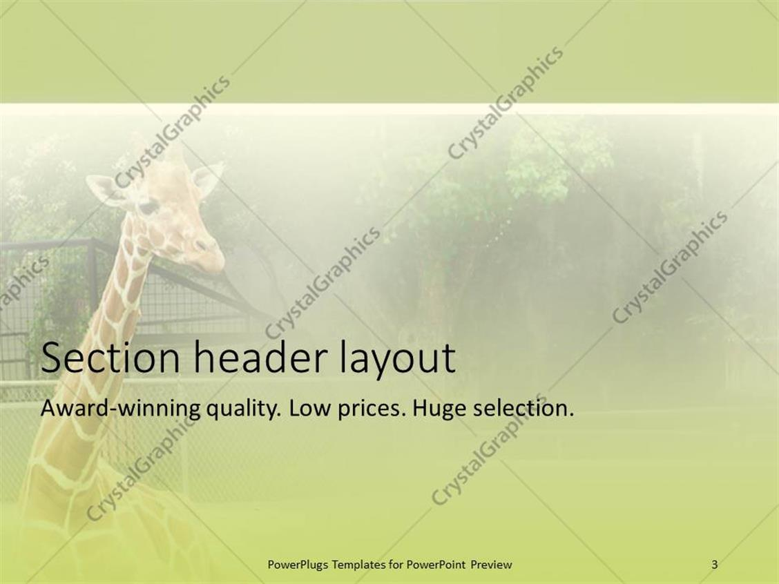 Powerpoint template giraffe relaxing in front of tree at zoo 1832 powerpoint products templates secure toneelgroepblik Image collections
