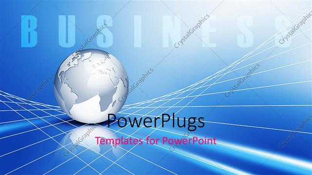 Powerpoint template global business metaphor with silver earth powerpoint template displaying global business metaphor with silver earth globe on 3d grid lines toneelgroepblik Choice Image