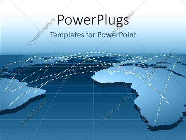 Powerpoint template global business relationship distribution powerpoint template displaying global business relationship distribution channels or networking using map toneelgroepblik Image collections