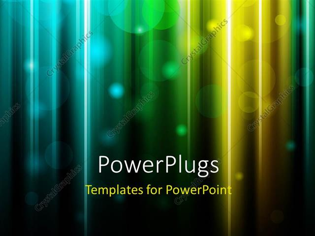PowerPoint Template Displaying Glowing Bright Background with Colored Light