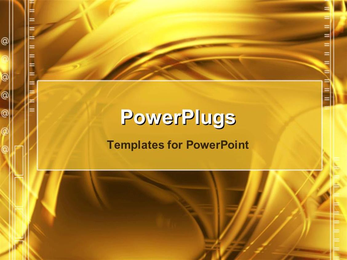 PowerPoint Template Displaying Gold Abstract Design