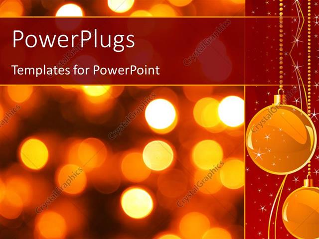 Powerpoint Template Gold Christmas Background With Luminous
