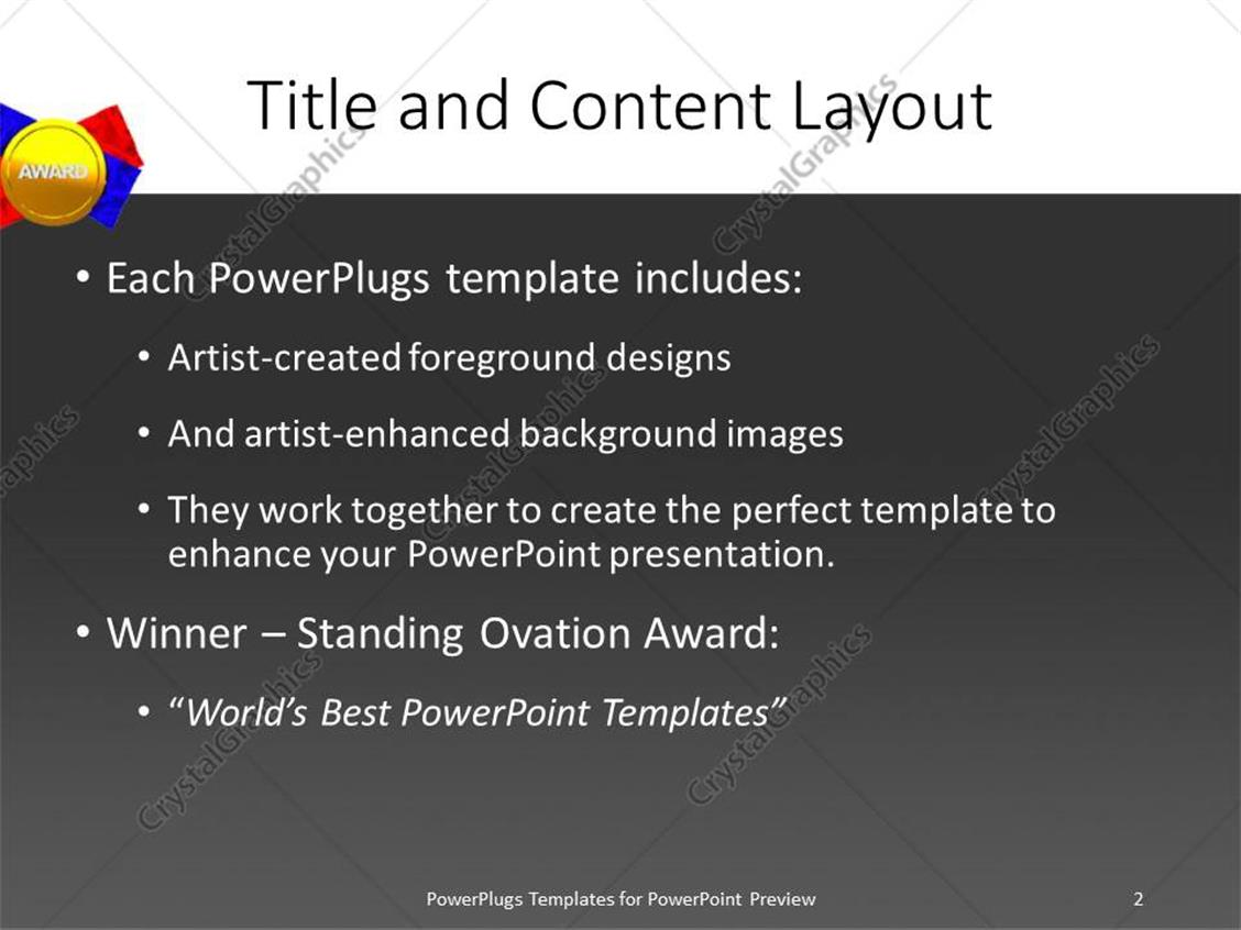 Awesome award template powerpoint ideas professional resume powerpoint template gold medal award with red and blue ribbon on alramifo Images